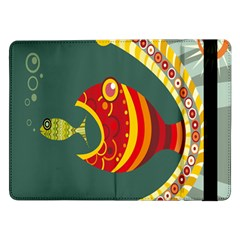 Fish Predator Sea Water Beach Monster Samsung Galaxy Tab Pro 12 2  Flip Case by Mariart