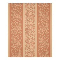 Flower Floral Leaf Frame Star Brown Shower Curtain 60  X 72  (medium)  by Mariart