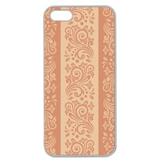 Flower Floral Leaf Frame Star Brown Apple Seamless Iphone 5 Case (clear) by Mariart