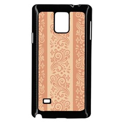 Flower Floral Leaf Frame Star Brown Samsung Galaxy Note 4 Case (black) by Mariart