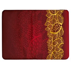 Floral Flower Golden Red Leaf Samsung Galaxy Tab 7  P1000 Flip Case by Mariart
