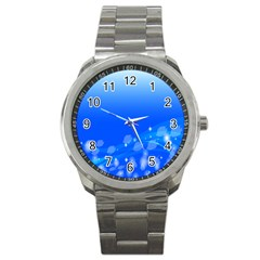 Fish Swim Blue Water Swea Beach Star Wave Chevron Sport Metal Watch by Mariart