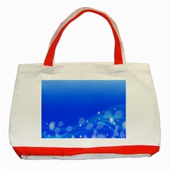Fish Swim Blue Water Swea Beach Star Wave Chevron Classic Tote Bag (red) by Mariart