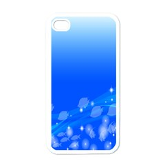 Fish Swim Blue Water Swea Beach Star Wave Chevron Apple Iphone 4 Case (white) by Mariart