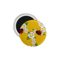 Flower Floral Sunflower Butterfly Red Yellow White Green Leaf 1 75  Magnets by Mariart