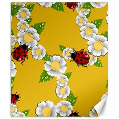 Flower Floral Sunflower Butterfly Red Yellow White Green Leaf Canvas 20  X 24   by Mariart