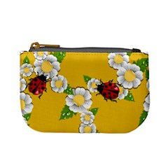 Flower Floral Sunflower Butterfly Red Yellow White Green Leaf Mini Coin Purses by Mariart