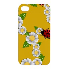 Flower Floral Sunflower Butterfly Red Yellow White Green Leaf Apple Iphone 4/4s Hardshell Case by Mariart