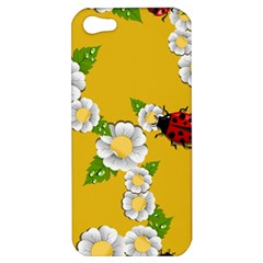 Flower Floral Sunflower Butterfly Red Yellow White Green Leaf Apple Iphone 5 Hardshell Case