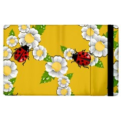 Flower Floral Sunflower Butterfly Red Yellow White Green Leaf Apple Ipad 2 Flip Case by Mariart