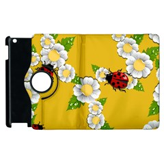 Flower Floral Sunflower Butterfly Red Yellow White Green Leaf Apple Ipad 3/4 Flip 360 Case by Mariart