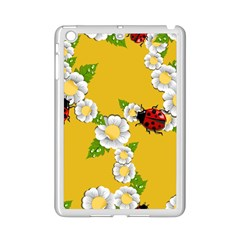 Flower Floral Sunflower Butterfly Red Yellow White Green Leaf Ipad Mini 2 Enamel Coated Cases by Mariart