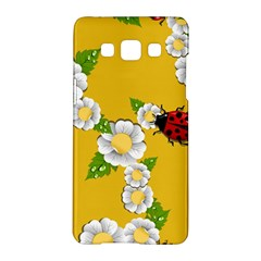 Flower Floral Sunflower Butterfly Red Yellow White Green Leaf Samsung Galaxy A5 Hardshell Case  by Mariart