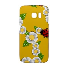 Flower Floral Sunflower Butterfly Red Yellow White Green Leaf Galaxy S6 Edge by Mariart