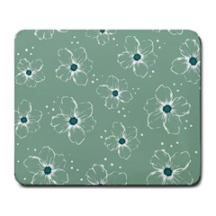 Flower Floral Sakura Sunflower Rose Blue Large Mousepads by Mariart