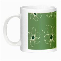 Flower Floral Sakura Sunflower Rose Blue Night Luminous Mugs by Mariart