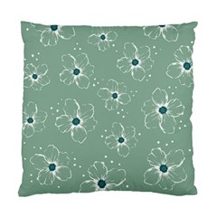 Flower Floral Sakura Sunflower Rose Blue Standard Cushion Case (two Sides) by Mariart