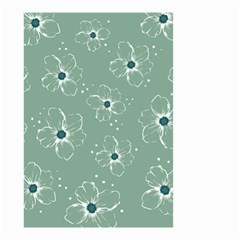 Flower Floral Sakura Sunflower Rose Blue Small Garden Flag (two Sides) by Mariart