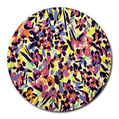 French Crepe Colour Pink Round Mousepads by Mariart