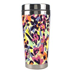 French Crepe Colour Pink Stainless Steel Travel Tumblers by Mariart