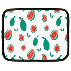 Fruit Green Red Guavas Leaf Netbook Case (large) by Mariart