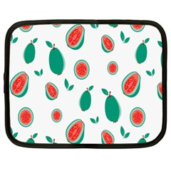 Fruit Green Red Guavas Leaf Netbook Case (xxl)  by Mariart