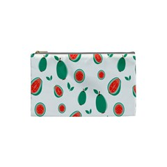 Fruit Green Red Guavas Leaf Cosmetic Bag (small)  by Mariart