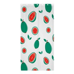 Fruit Green Red Guavas Leaf Shower Curtain 36  X 72  (stall)  by Mariart