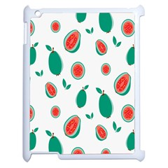 Fruit Green Red Guavas Leaf Apple Ipad 2 Case (white) by Mariart