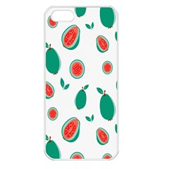 Fruit Green Red Guavas Leaf Apple Iphone 5 Seamless Case (white) by Mariart