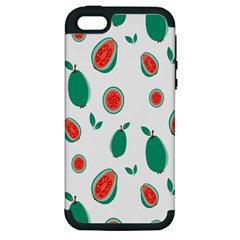Fruit Green Red Guavas Leaf Apple Iphone 5 Hardshell Case (pc+silicone) by Mariart
