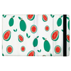 Fruit Green Red Guavas Leaf Apple Ipad 3/4 Flip Case by Mariart