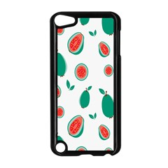 Fruit Green Red Guavas Leaf Apple Ipod Touch 5 Case (black) by Mariart