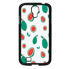 Fruit Green Red Guavas Leaf Samsung Galaxy S4 I9500/ I9505 Case (black) by Mariart