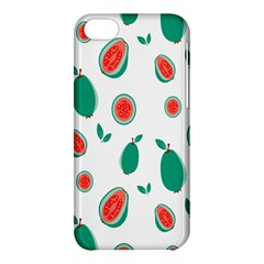 Fruit Green Red Guavas Leaf Apple Iphone 5c Hardshell Case by Mariart