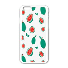 Fruit Green Red Guavas Leaf Apple Iphone 6/6s White Enamel Case by Mariart