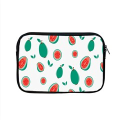 Fruit Green Red Guavas Leaf Apple Macbook Pro 15  Zipper Case by Mariart