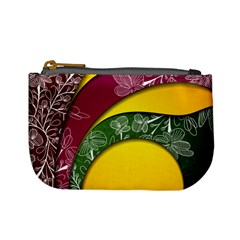 Flower Floral Leaf Star Sunflower Green Red Yellow Brown Sexxy Mini Coin Purses