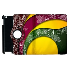 Flower Floral Leaf Star Sunflower Green Red Yellow Brown Sexxy Apple Ipad 2 Flip 360 Case by Mariart