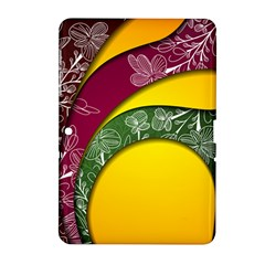 Flower Floral Leaf Star Sunflower Green Red Yellow Brown Sexxy Samsung Galaxy Tab 2 (10 1 ) P5100 Hardshell Case