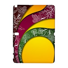 Flower Floral Leaf Star Sunflower Green Red Yellow Brown Sexxy Galaxy Note 1 by Mariart