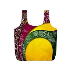 Flower Floral Leaf Star Sunflower Green Red Yellow Brown Sexxy Full Print Recycle Bags (s)  by Mariart