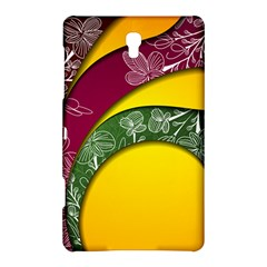 Flower Floral Leaf Star Sunflower Green Red Yellow Brown Sexxy Samsung Galaxy Tab S (8 4 ) Hardshell Case  by Mariart
