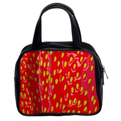 Fruit Seed Strawberries Red Yellow Frees Classic Handbags (2 Sides) by Mariart