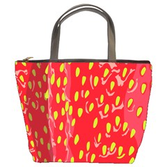 Fruit Seed Strawberries Red Yellow Frees Bucket Bags by Mariart
