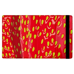 Fruit Seed Strawberries Red Yellow Frees Apple Ipad 3/4 Flip Case by Mariart