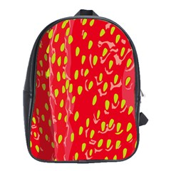 Fruit Seed Strawberries Red Yellow Frees School Bags (xl)  by Mariart