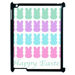 Happy Easter Rabbit Color Green Purple Blue Pink Apple Ipad 2 Case (black) by Mariart