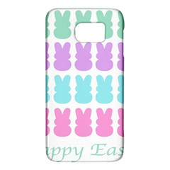 Happy Easter Rabbit Color Green Purple Blue Pink Galaxy S6 by Mariart