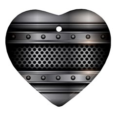 Iron Content Hole Mix Polka Dot Circle Silver Ornament (heart)